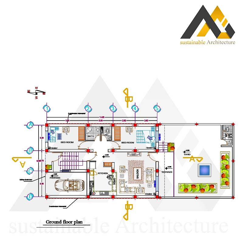 Residential executive map with 10 width