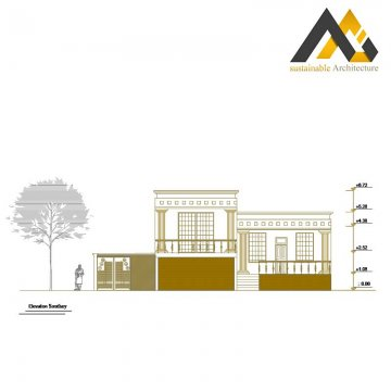 Duplex residential excusive plan