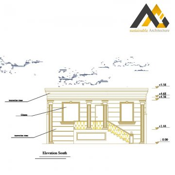 Executive villa's plan with 10 width