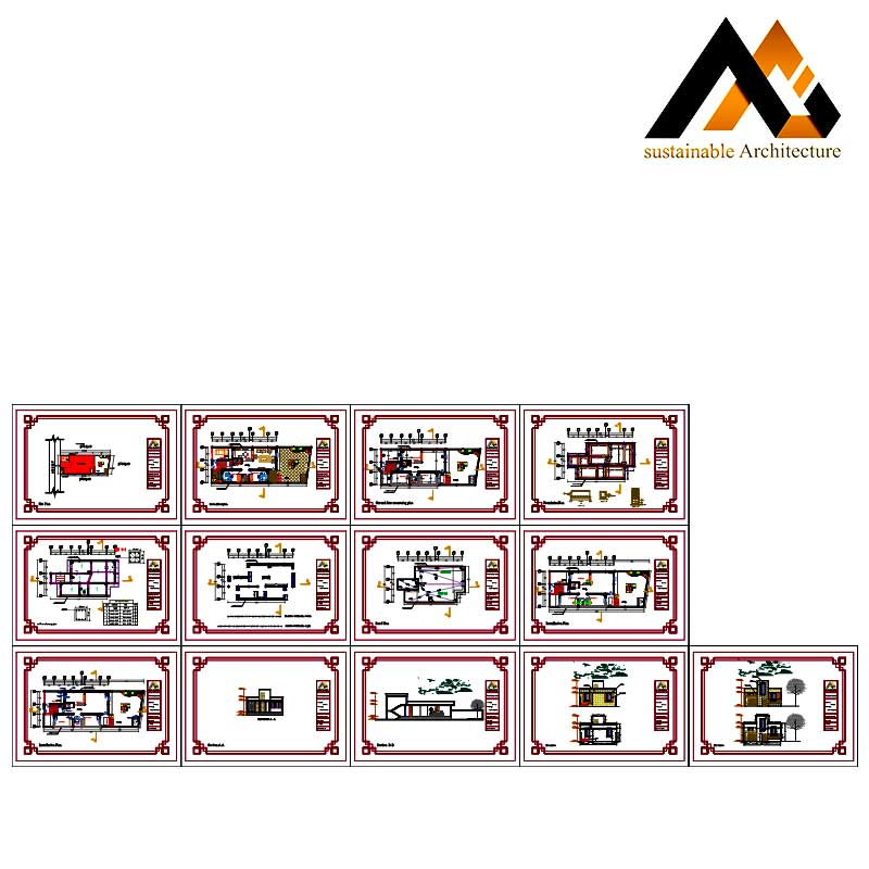 Residential executed plan with 10 width