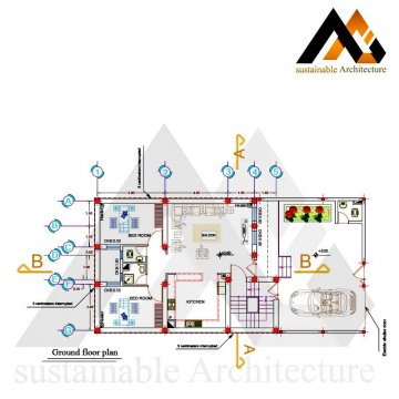The residential executed map with 10 width