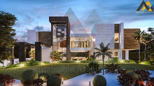 Luxury and modern duplex villa