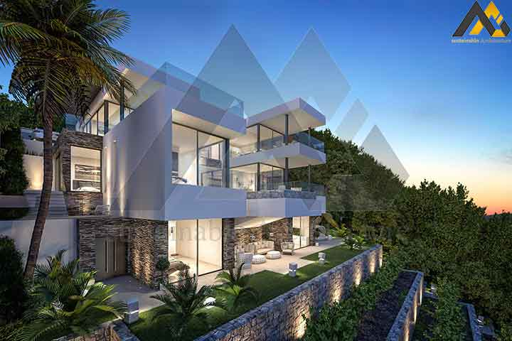 Modern and new style villa