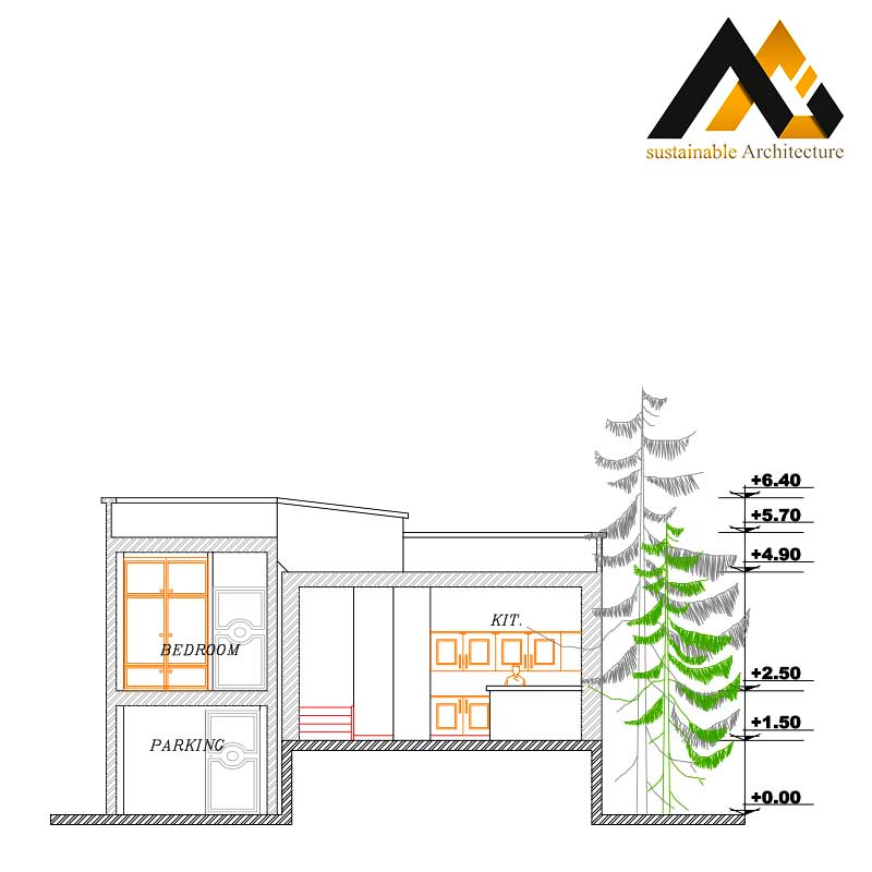 One storey duplex house map