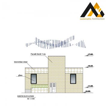 One storey resident house plan