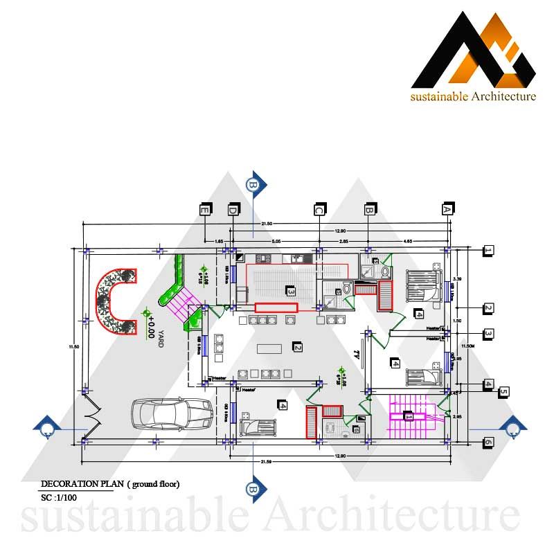 Residential plan with 11.50 width