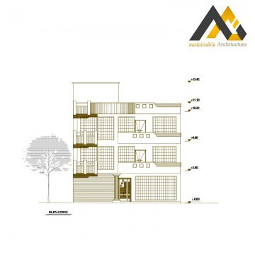 Three storeys residential plan designed