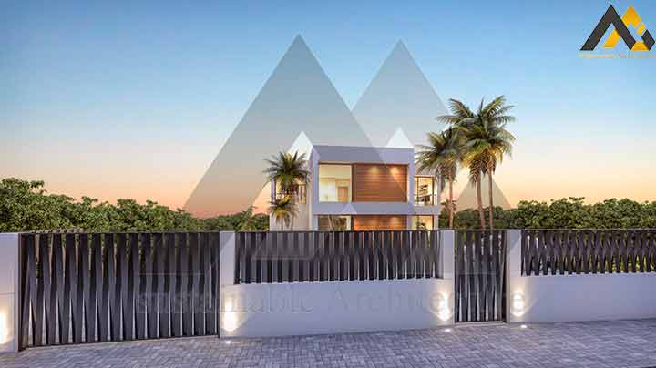 Modern and luxury triplex villa