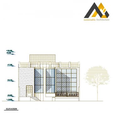 Two storeys residential apartment plan