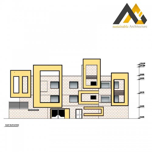 residential executive plan with 14 width