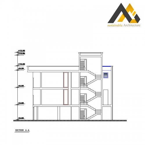 residential executive plan with 10.30 width