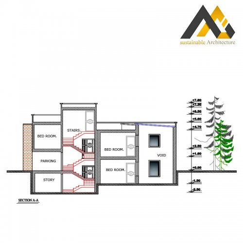 The residential executive plan with 10 width