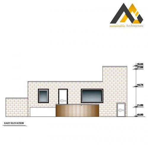 Two storeys residential house plan