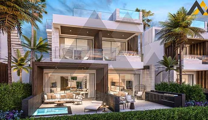 design of Two storey villa with swimmining pool