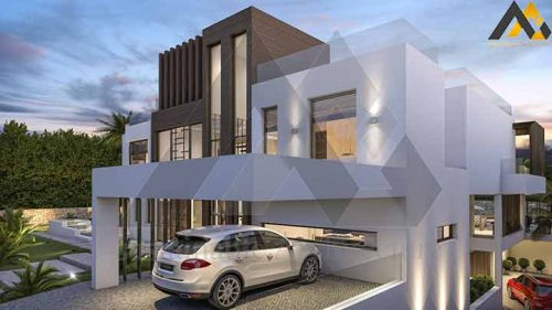 design Luxury two storeys villa
