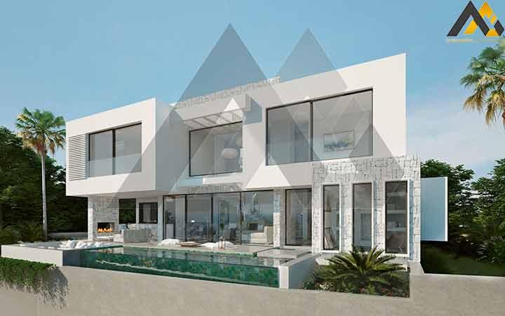 A duplex villa with luxury design