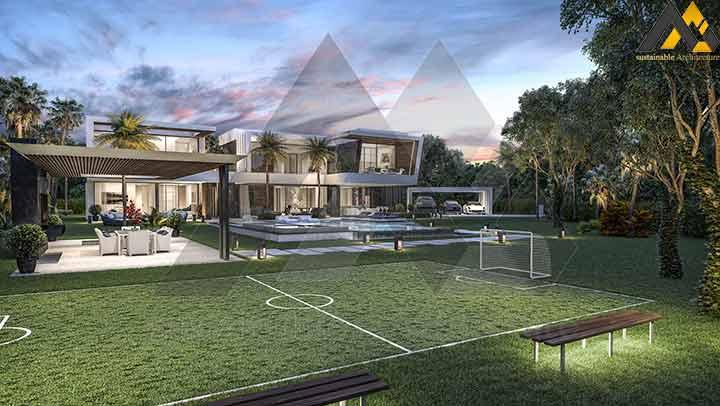 Modern style duplex villa plan