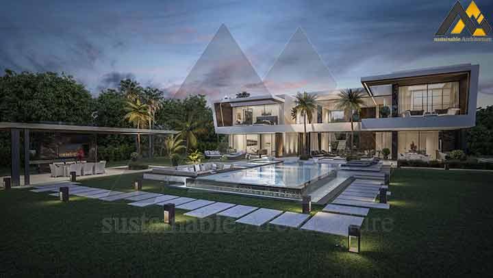 Modern style three floors villa