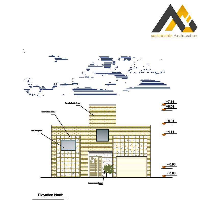 Residential plan with 10 width