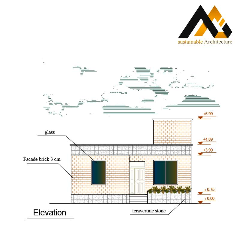 Executed residential plan with 10 width