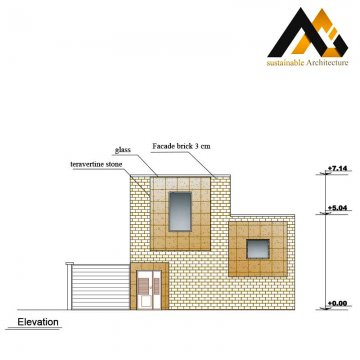 The residential executed plan with 8 width