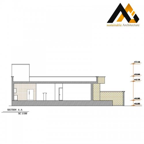 One storey residential house plan