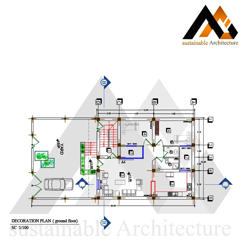 Residential executed map 10 width