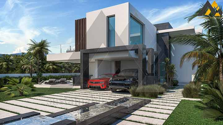 Two-storey residential house