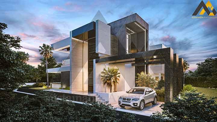 Luxury and modern duplex villa