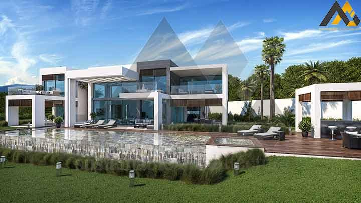 Modern and luxury duplex villa