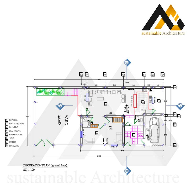 residential house plan with 11 width