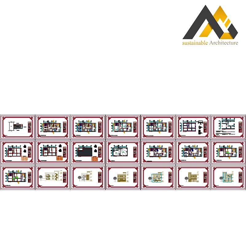 Two storeys residential executed map