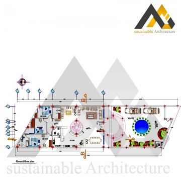 residential executive plan with 12 width