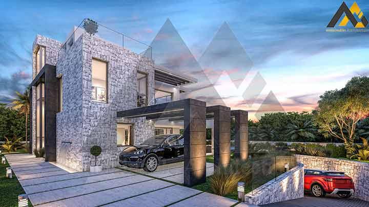 the modern style luxury villa