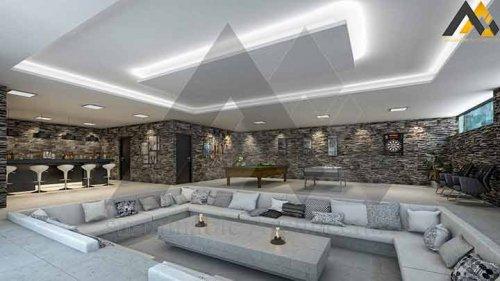Luxury and modern duplex plan