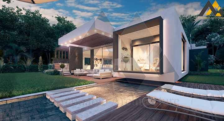 Luxury and modern style villa