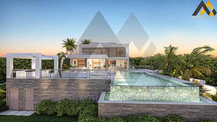 Modern and luxury triplex villa
