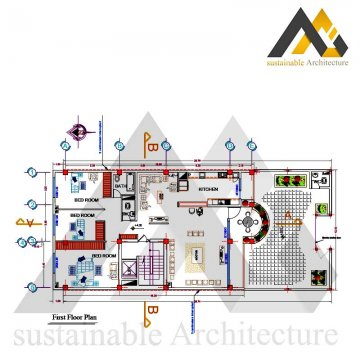 Two storeys residential building plan