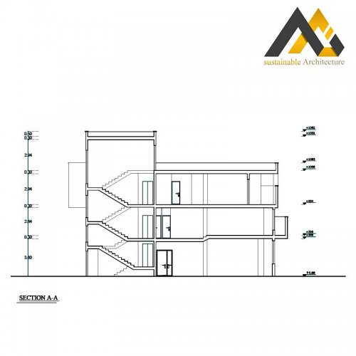 executed apartment plan with 13 width