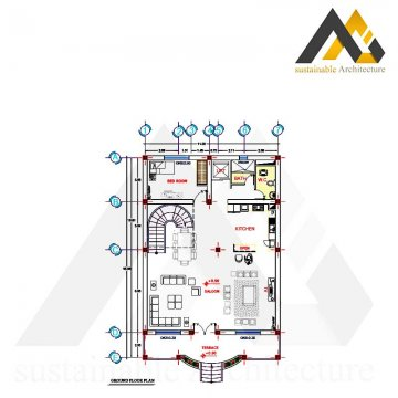 residential executed plan with 11 width