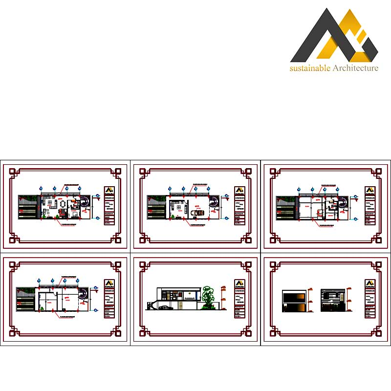 residential executed plan with 7.50 width