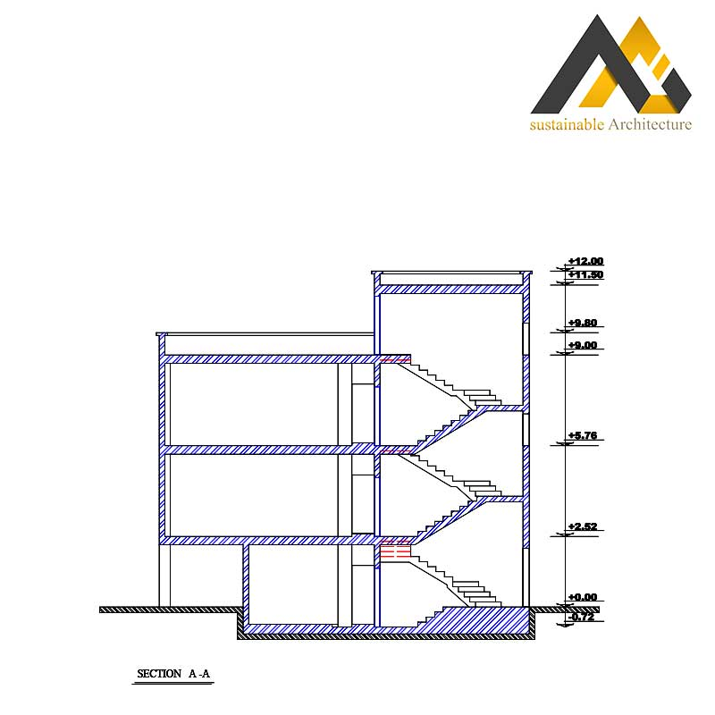 residential plan with 12 width