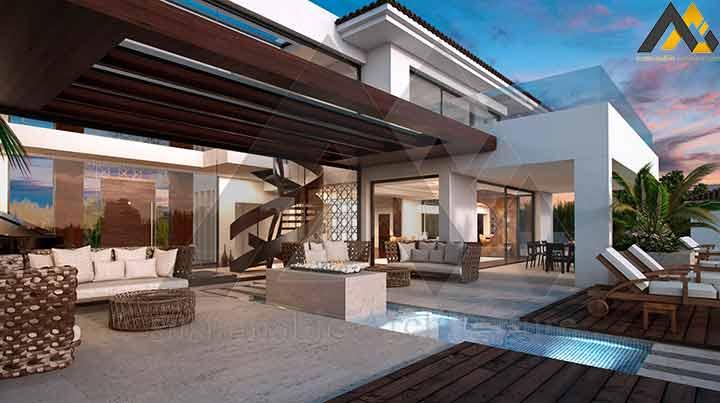 2 storeys skillfully villa design
