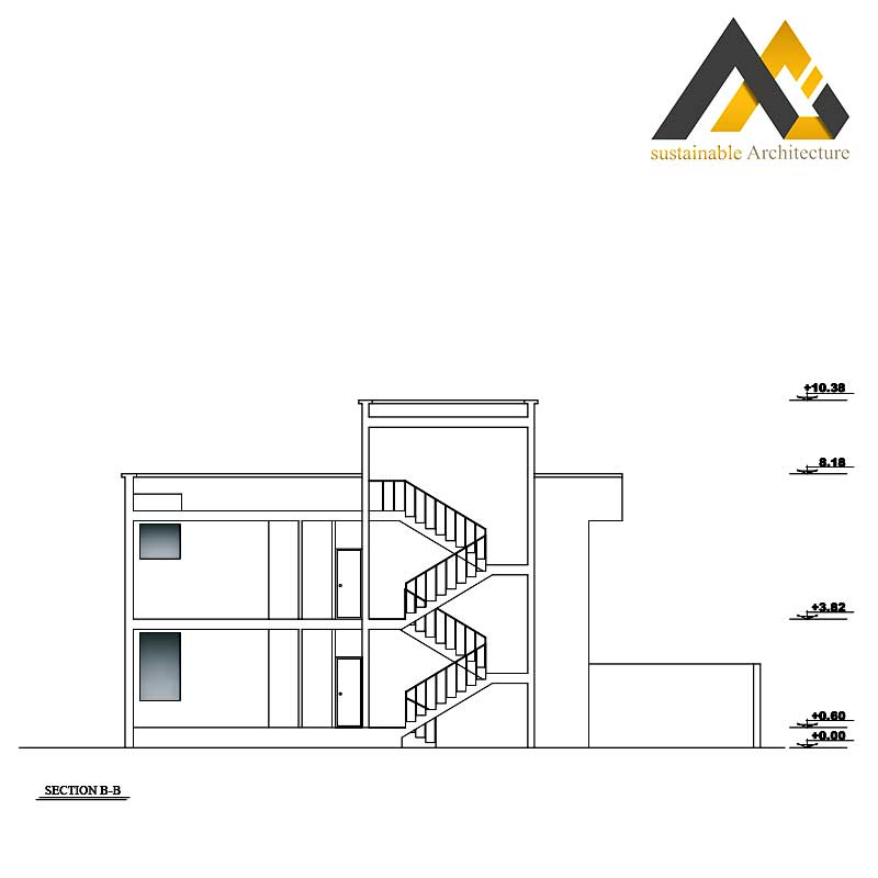 The residential executive plan with 12 width