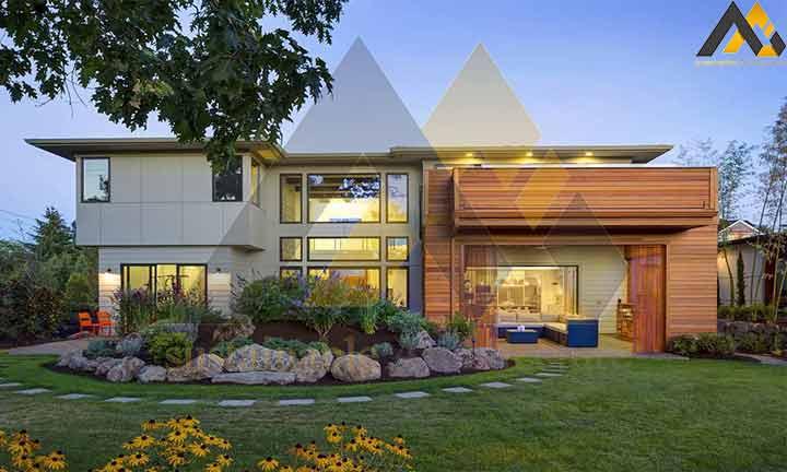 Modern two-storey villa house plan