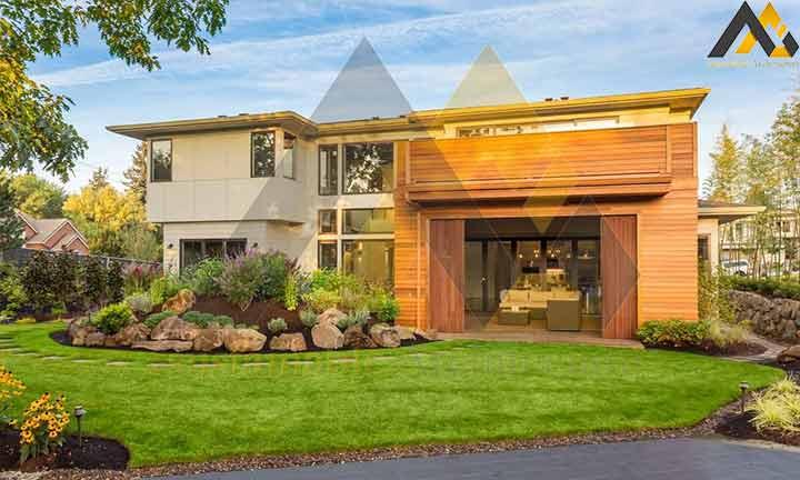 Modern two storey villa house plan