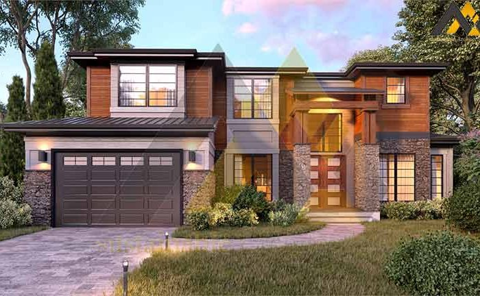 Design of a two-storey villa house