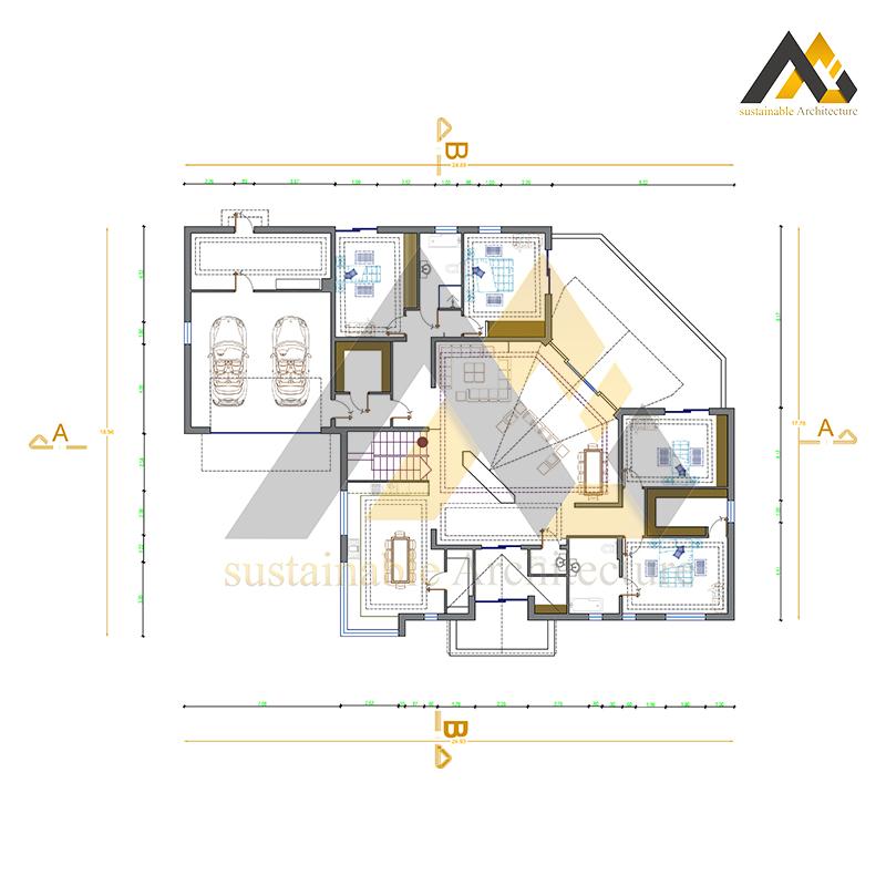 Modern 7 bedroom villa plan