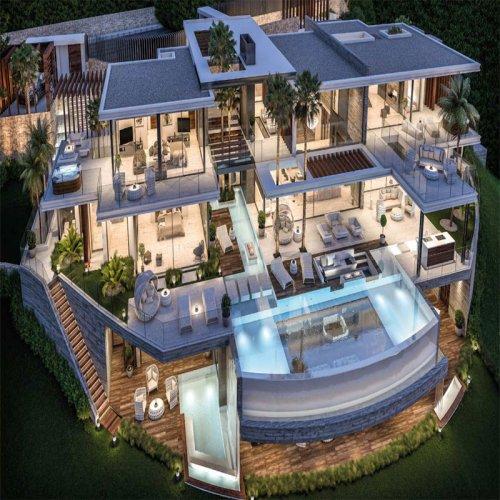Fantasy three floor villa